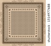 scarf pattern design with... | Shutterstock .eps vector #1514977688
