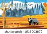 landscapes of wildlife in...   Shutterstock .eps vector #1515003872