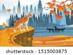 landscapes of wildlife in... | Shutterstock .eps vector #1515003875