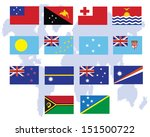 flags of oceania  all countries ... | Shutterstock .eps vector #151500722