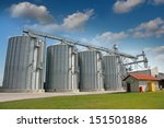 agricultural silo   building... | Shutterstock . vector #151501886