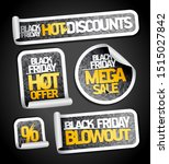 black friday sale stickers...   Shutterstock .eps vector #1515027842