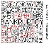 word cloud   bankruptcy | Shutterstock . vector #151502795