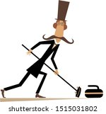 mustache man in the top hat...   Shutterstock .eps vector #1515031802