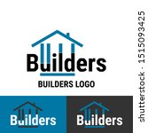 builder construction business... | Shutterstock .eps vector #1515093425