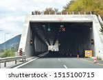 Road Tunnel In Mountains....