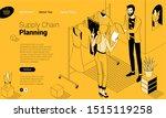 online shopping modern flat... | Shutterstock .eps vector #1515119258
