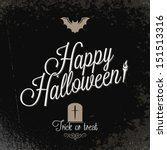 holiday   frame happy halloween ... | Shutterstock . vector #151513316
