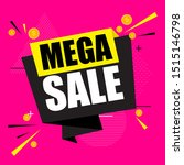 abstract mega sale poster.... | Shutterstock .eps vector #1515146798