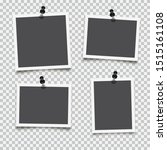 set of empty photo frames with... | Shutterstock .eps vector #1515161108