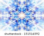 Light Blue Kaleidoscope...