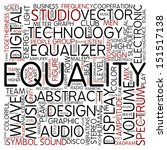 word cloud   equality | Shutterstock . vector #151517138