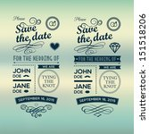 wedding invitations badges | Shutterstock . vector #151518206