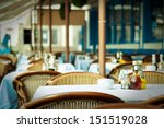 empty tables at an outdoor... | Shutterstock . vector #151519028