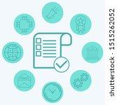 checklist vector icon sign...
