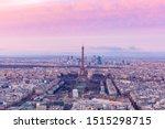 Aerial View Of Paris Skyline...
