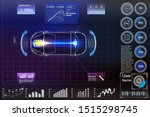 futuristic user interface. hud...