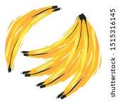 hand drawn sketch yellow banana.... | Shutterstock .eps vector #1515316145