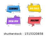 flat linear promotion ribbon...   Shutterstock .eps vector #1515320858