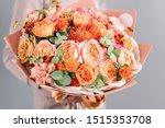 Bouquet Peach And Orange Color. ...