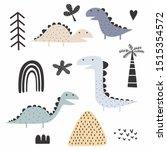 Dinosaur Scandinavian Drawing...