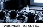 speaker giving a talk in...   Shutterstock . vector #1515371162