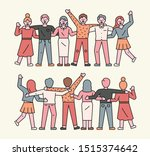 people are standing side by...   Shutterstock .eps vector #1515374642