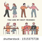 best friend character set to... | Shutterstock .eps vector #1515375728