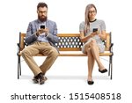 Man And Woman Sitting On A...