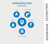 infrastructure. set of six... | Shutterstock .eps vector #1515427595
