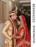 young indian bride groom posing ... | Shutterstock . vector #1515434438