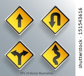 Direction Traffic Sign 3d Pape...