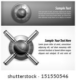 safe combination lock wheel and ... | Shutterstock .eps vector #151550546