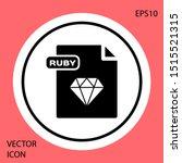 black ruby file document.... | Shutterstock .eps vector #1515521315