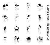 autumn icon set | Shutterstock .eps vector #151556846