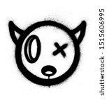 graffiti little devil icon... | Shutterstock .eps vector #1515606995