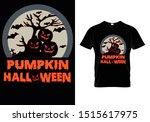 halloween t shirt template for... | Shutterstock .eps vector #1515617975