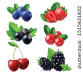 berries realistic set of... | Shutterstock .eps vector #1515631832