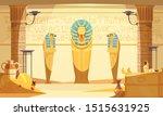 egyptian burial chamber tomb... | Shutterstock .eps vector #1515631925