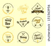 honey bee vector set | Shutterstock .eps vector #151563956