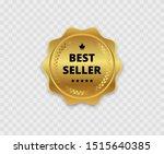 best seller. golden badge.... | Shutterstock .eps vector #1515640385