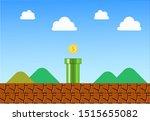 vintage game background vector... | Shutterstock .eps vector #1515655082