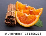 Fresh Oranges With Cinnamon...