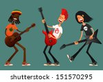 funny cartoon guys playing...   Shutterstock .eps vector #151570295