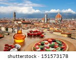 Florence With Cathedral And...