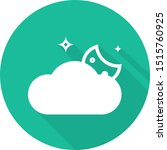 cloudy night cold icon   from...