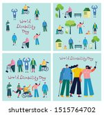 vector background with disabled ... | Shutterstock .eps vector #1515764702