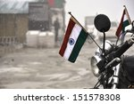Indian Flag On A Motorcycle