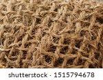 Sisal Fiber Texture Close Up