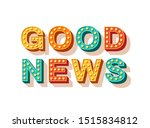 good news vector typography.... | Shutterstock .eps vector #1515834812